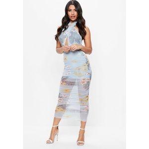 Missguided mesh wrap maxi dress NWT
